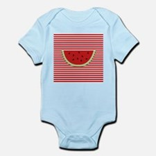 Watermelon Slice on Red and White Body Suit