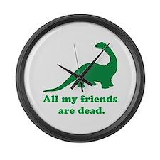 Cute Funny dinosaur Large Wall Clock
