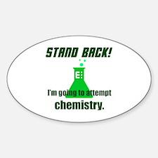 Cute Stand back Sticker (Oval)