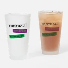 Football My Sport Drinking Glass