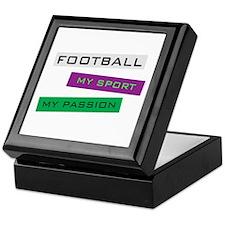 Football My Sport Keepsake Box