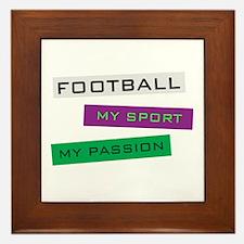 Football My Sport Framed Tile