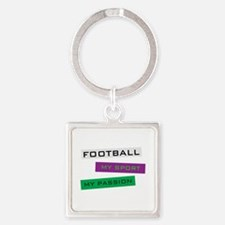 Football My Sport Square Keychain