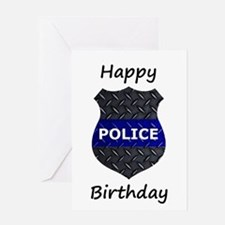 Police Happy Birthday Card Greeting Cards