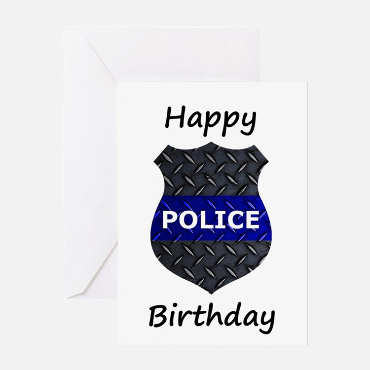 Police Happy Birthday Card Greeting Cards