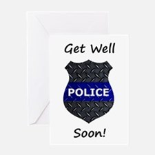 Police Get Well Soon Card Greeting Cards