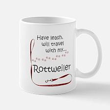 Rottweiler Travel Leash Mug