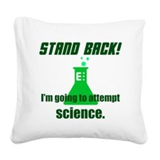 Cute Stand back Square Canvas Pillow