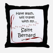 Saint Travel Leash Throw Pillow