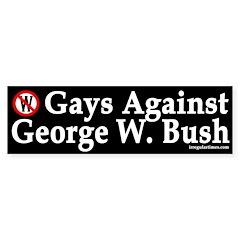 Gays Against Bush (Bumper Sticker)