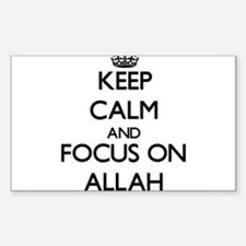Keep Calm And Focus On Allah Decal