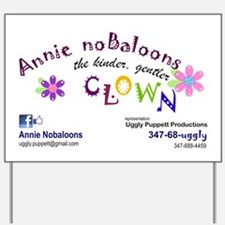 Annie Nobaloons Event Yard Sign