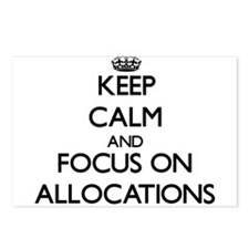 Keep Calm And Focus On Allocations Postcards (Pack