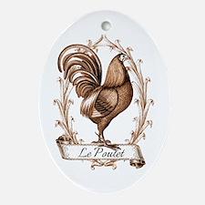 Poulet Ornament (Oval)