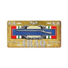 Harvest Moons CIB-Iraq Aluminum License Plate