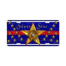 Harvest Moons Silver Star Aluminum License Plate