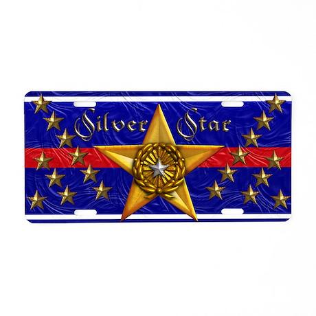 Harvest Moons Silver Star Aluminum License Plate