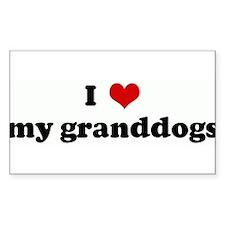 Cute Granddog Decal