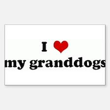 Unique Granddog Decal