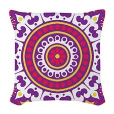 Purple Passion Woven Throw Pillow