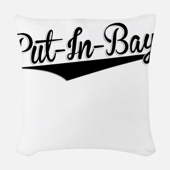 Put-In-Bay, Retro, Woven Throw Pillow