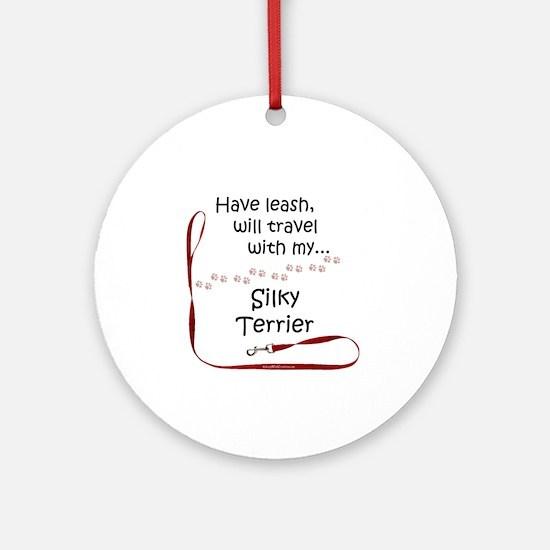 Silky Travel Leash Ornament (Round)
