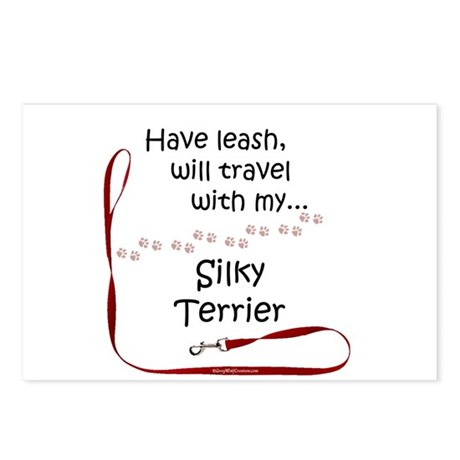 Silky Travel Leash Postcards (Package of 8)