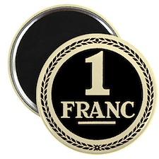 Franc (sepia) Magnets