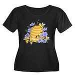 Honey Bee Dance Women's Plus Size Scoop Neck Dark