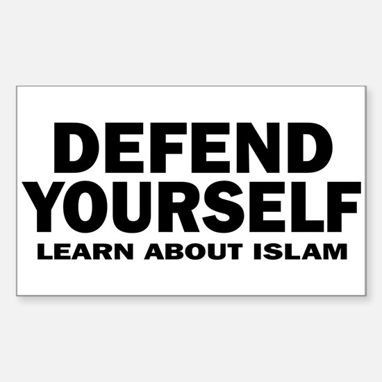 Defend Yourself Rectangle Decal