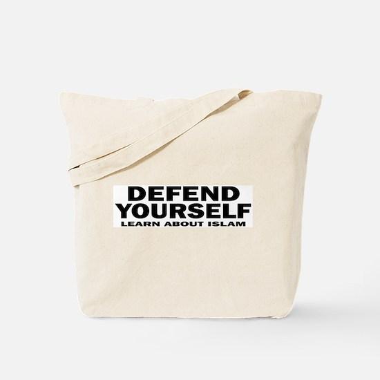 Defend Yourself Tote Bag