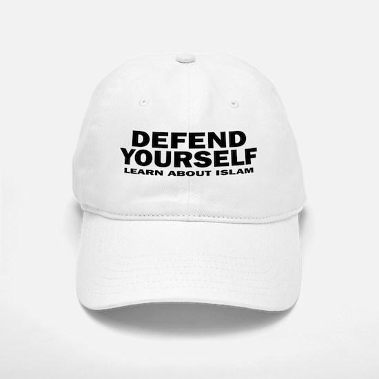 Defend Yourself Baseball Baseball Cap