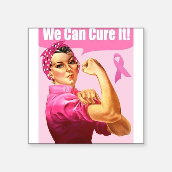 Rosie the Riveter Breast Cancer Awareness Sticker