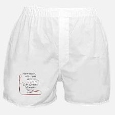 Wheaten Travel Leash Boxer Shorts