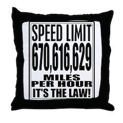 Light Speed Limit Throw Pillow