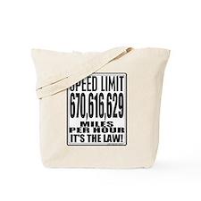 Light Speed Limit Tote Bag