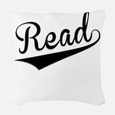Read, Retro, Woven Throw Pillow