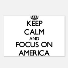 Keep Calm And Focus On America Postcards (Package
