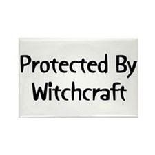 Protected By Witchcraft Rectangle Magnet
