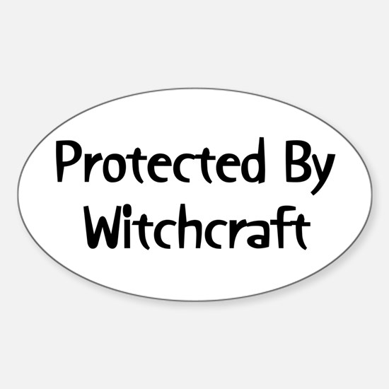 Protected By Witchcraft Oval Decal