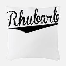 Rhubarb, Retro, Woven Throw Pillow
