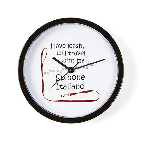 Spinone Travel Leash Wall Clock