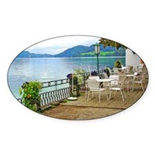 Austrian Cafe by the Lake Decal