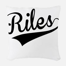 Riles, Retro, Woven Throw Pillow