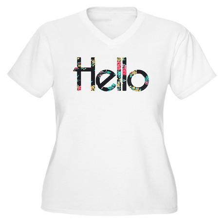 Hello Floral Plus Size T-Shirt