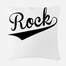 Rock, Retro, Woven Throw Pillow