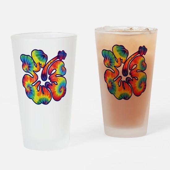 hibiscus tie dye 1 Drinking Glass