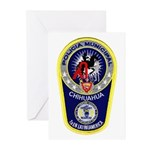 Chihuahua Police Greeting Cards (Pk of 10)