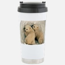 Polar Bear Cubs in the  Travel Mug