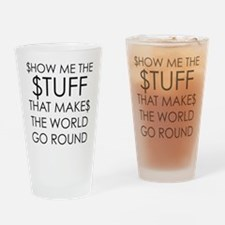 Show me the money Drinking Glass